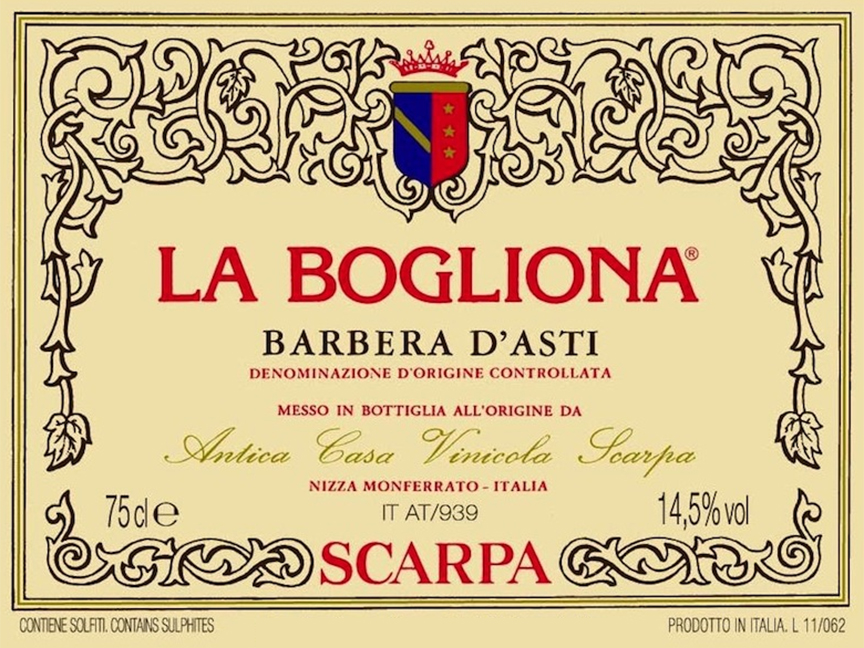 Traditional Sometimes Means Rustic But That S Not The Case Here Why La Bogliona Is Considered The Apotheosis Of Barbera D Asti Scarpa Is Us